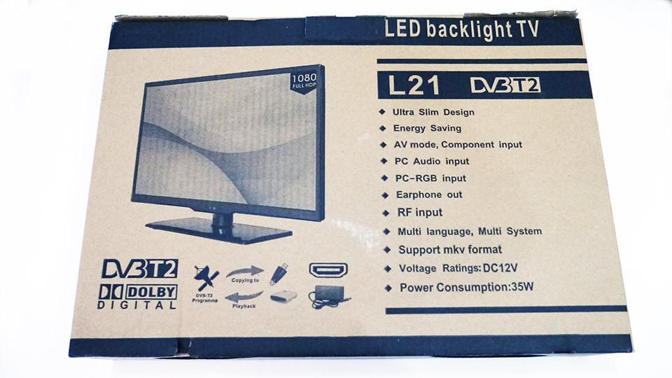 """LCD LED L21 Телевизор 19"""" DVB - T2 12v/220v HDMI IN/USB/VGA/SCART/COAX OUT/PC AUDIO IN"""