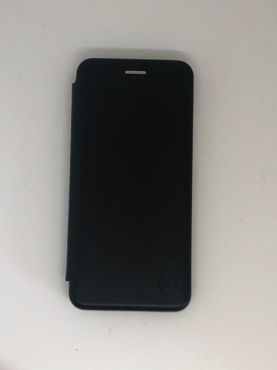 Чехол-книжка для Samsung М30 цвет черный, кожаный