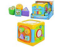 Кубик-сортер музыкальный развивающий игровой, WinFun, 0741 NL