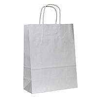Крафт пакет бумажный с ручками 320х140х420 мм, белый