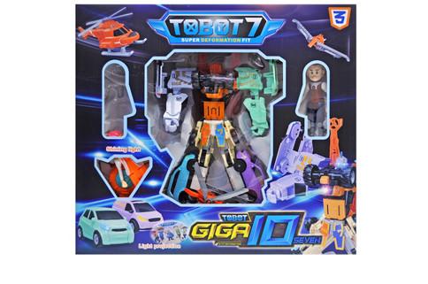Робот трансфотмер тобот TOBOT GIGA музичний зі світлом, в коробці Q1905