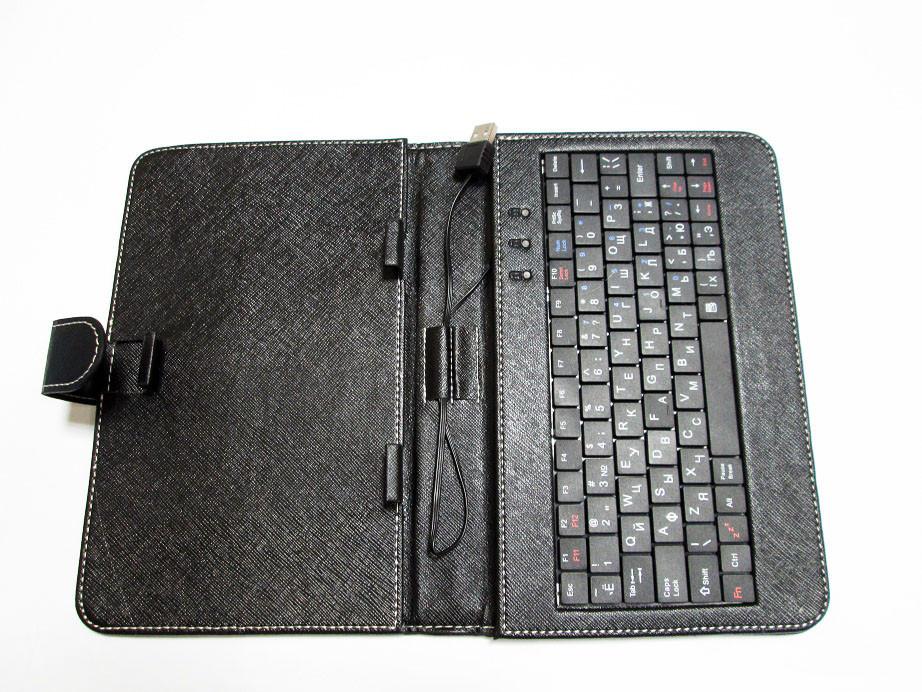Чехол с клавиатурой для планшетов 9 дюймов (микро USB)