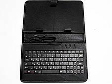 Чехол с клавиатурой для планшетов 9 дюймов (микро USB), фото 2