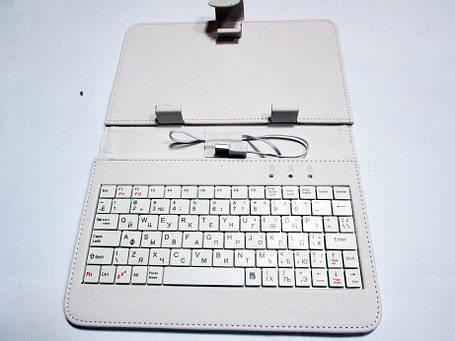 Чехол клавиатура для планшета 7 Rus USB Белый, фото 2