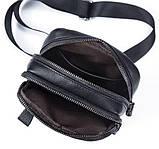 Сумка через плечо мужская Vintage 14772 Черная, фото 8