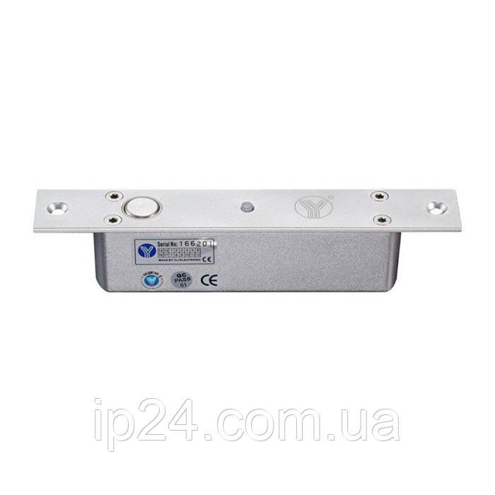 Электроригельный замок YB-200(LED) со световой индикацией, датчиком состояния двери и таймером задержки