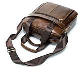 Ділова чоловіча сумка шкіряна Vintage 14789 Коричнева, фото 6