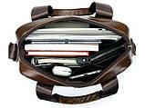 Ділова чоловіча сумка шкіряна Vintage 14789 Коричнева, фото 7