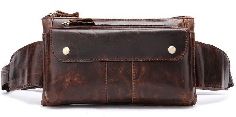 Поясна сумка чоловіча Vintage 14815 Коричнева