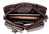 Деловая сумка на плечо кожаная Vintage 14820 Коричневая, фото 8