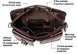 Деловая сумка на плечо кожаная Vintage 14820 Коричневая, фото 9
