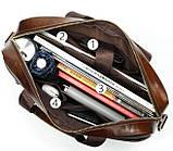 Деловая мужская сумка из зернистой кожи Vintage 14837 Коричневая, фото 4