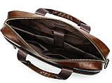 Деловая мужская сумка из зернистой кожи Vintage 14837 Коричневая, фото 5