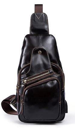 Сумка через плече чоловіча Vintage 14838 Коричнева