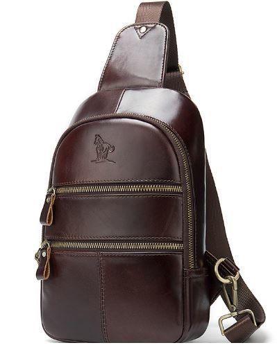 Сумка через плечо мужская Vintage 14853 Коричневая
