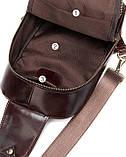Сумка через плечо мужская Vintage 14853 Коричневая, фото 4