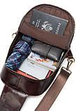 Сумка через плечо мужская Vintage 14853 Коричневая, фото 5