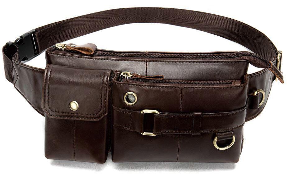Поясная cумка мужская Vintage 14897 Коричневая