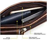 Поясная cумка мужская Vintage 14897 Коричневая, фото 8