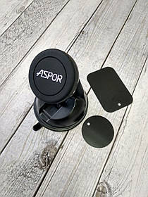 Автодержатель для телефона Holder Aspor BIG на магните Black