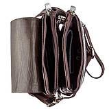 Вертикальна барсетка з натуральної шкіри 17361 KARYA Коричневий, Коричневий, фото 4