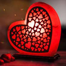 Ночники из соли в форм сердца