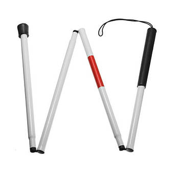 Трость для слепых Lesko складная алюминиевая телескопическая для пожилых трудноходящих людей