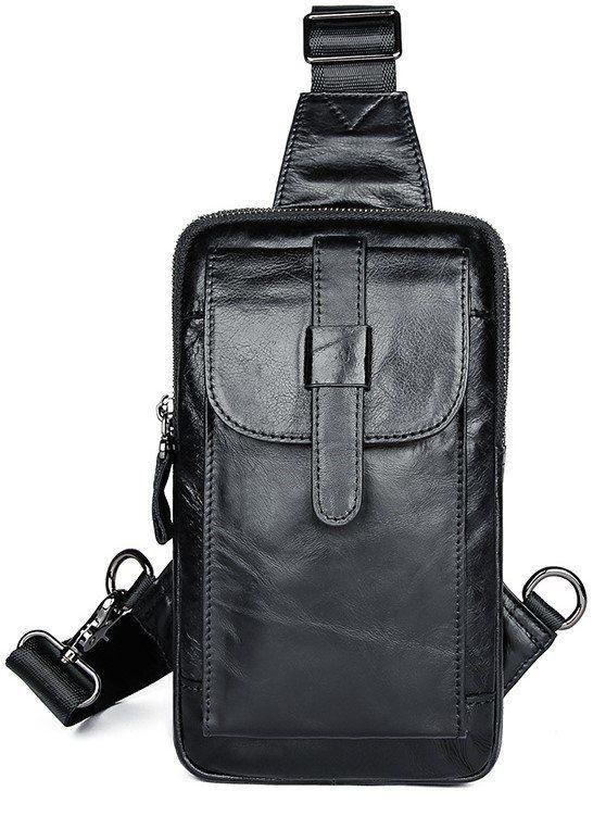 Сумка чоловіча через плече Vintage 14957 Чорна, Чорний