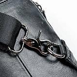 Сумка чоловіча через плече Vintage 14957 Чорна, Чорний, фото 9