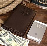 Бумажник мужской Vintage 14174 Коричневый, фото 3