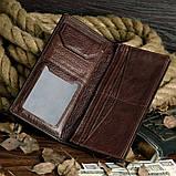 Бумажник мужской Vintage 14174 Коричневый, фото 4