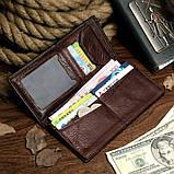 Бумажник мужской Vintage 14174 Коричневый, фото 5