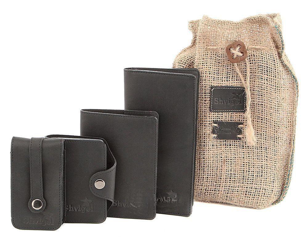 Отличный набор из кожаных аксессуаров SHVIGEL 10080