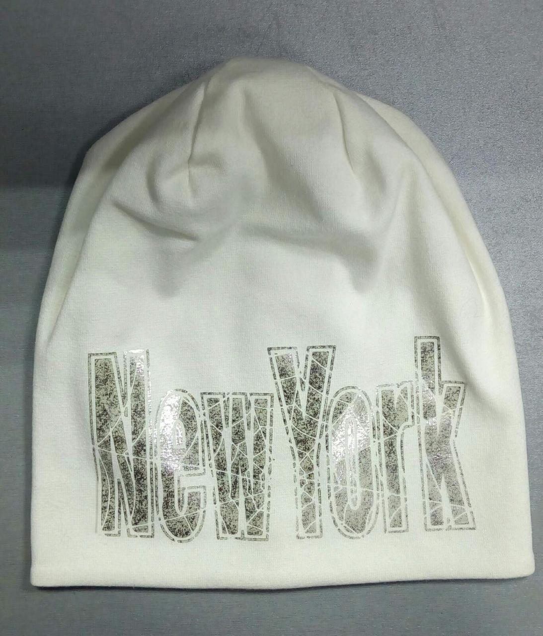 Модная шапка  для  девочки  р-ры 54