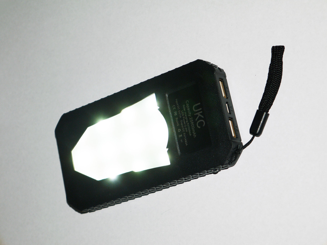 UKC 25800 mAh Солнечное зарядное устройство Power Bank Solar Charger