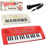 Синтезатор, 37 клавиш, микрофон, запись, демо, 2 цвета, BX-1605BC