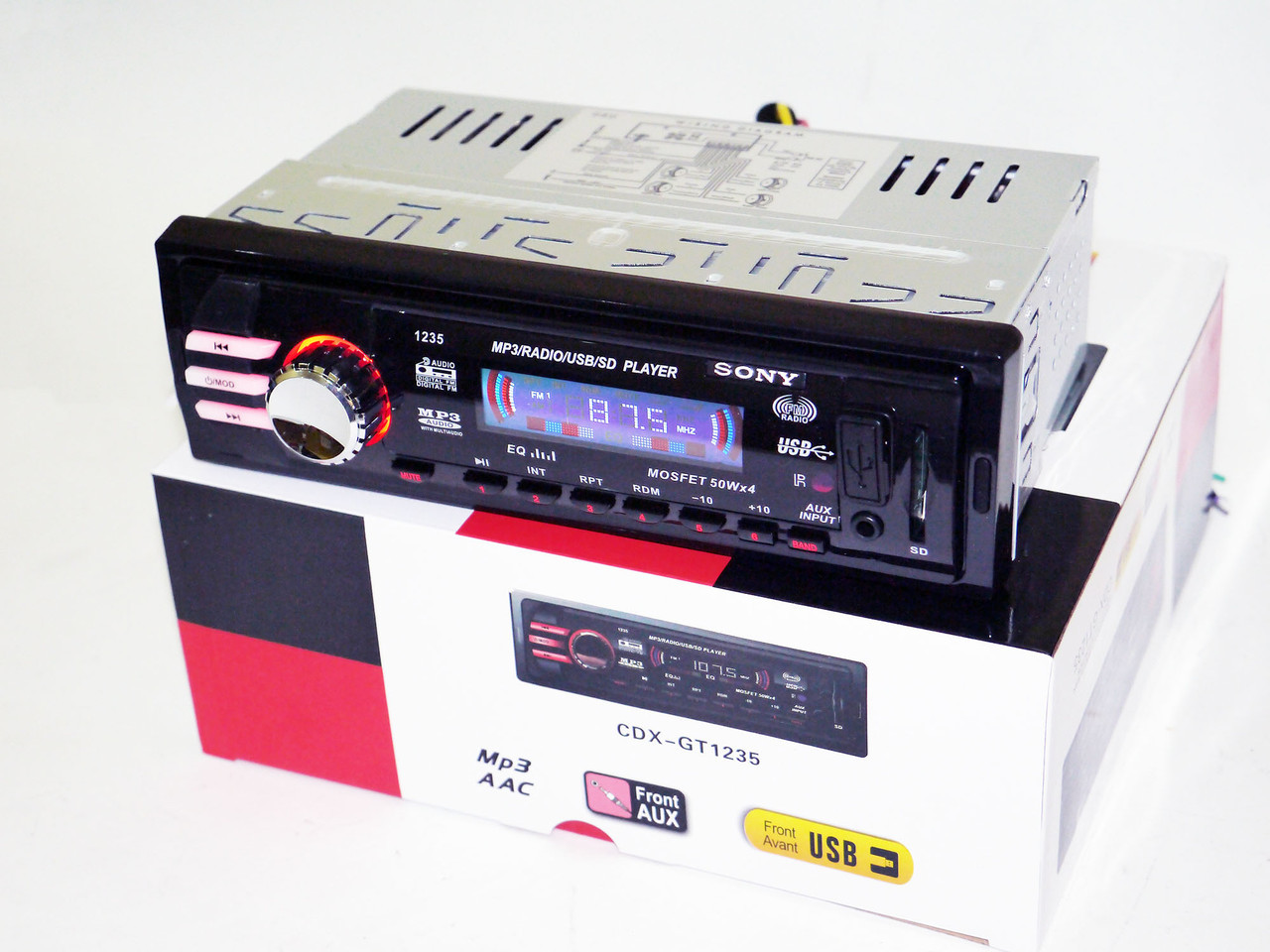 Автомагнитола Sony CDX-GT1235 - MP3+Usb+Sd+Fm+Aux+ пульт (4x50W)