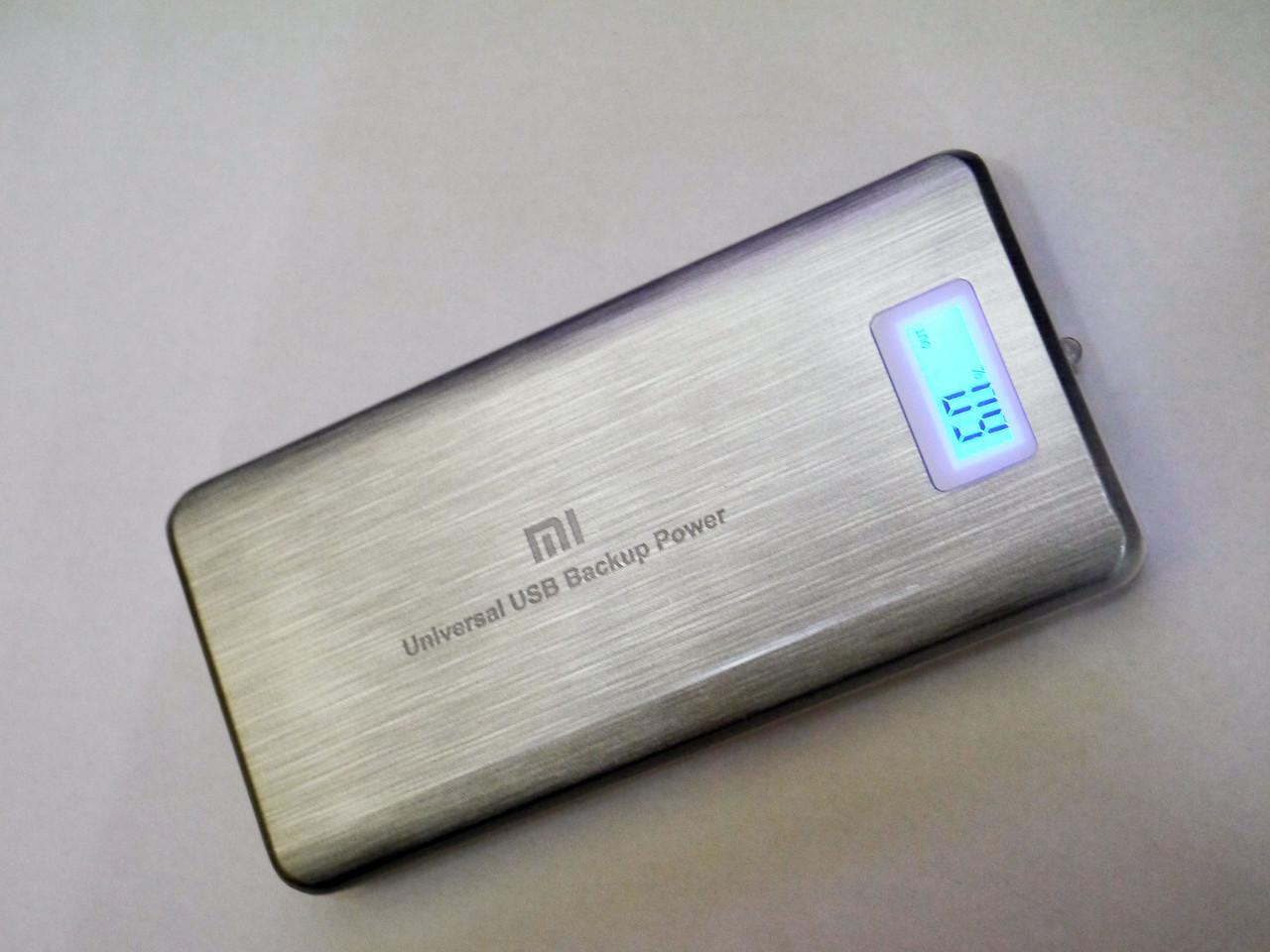 Power Bank Mi 28800 mah LCD 3 USB Портативная зарядка Серый