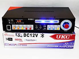 Усилитель звука UKC KA-123 BT 2*150 + КАРАОКЕ, фото 3