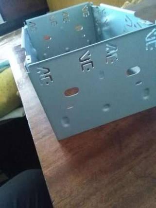 Металлическая  шахта для автомагнитолы 2DIN, фото 2