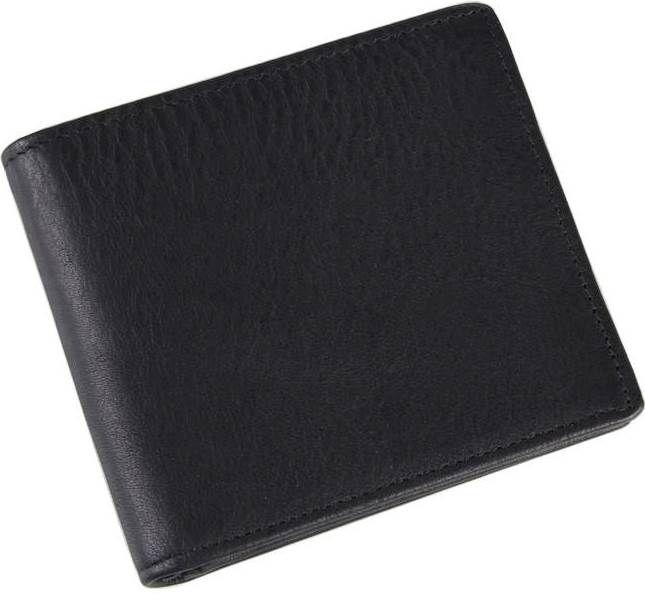 Гаманець чоловічий Vintage 14516 шкіряний Чорний, Чорний