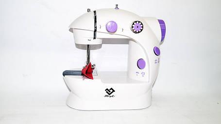 Мини швейная машинка FHSM-202 с педалькой с адаптером 220в, фото 2