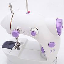Мини швейная машинка FHSM-202 с педалькой с адаптером 220в, фото 3