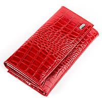 Кошелек женский CANPELLINI 17041 кожаный Красный, Красный