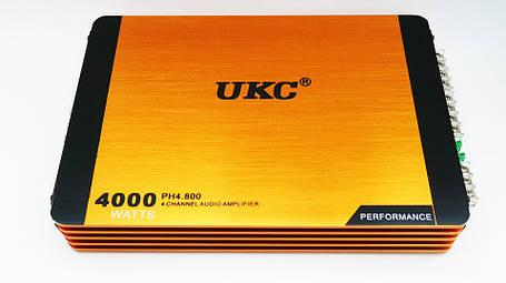 Автомобильный усилитель звука UKC Riot P4800.4 4000Вт 4-х канальный, фото 2