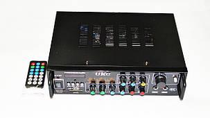 Усилитель UKC AV-313BT + КАРАОКЕ 2микрофона, фото 2