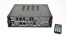 Усилитель UKC AV-323BT + КАРАОКЕ 2микрофона, фото 3