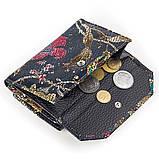 Женский кошелек Desisan 17057 кожаный Хохлома, фото 5
