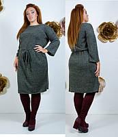 Платье ангора большие размеры на кулиске 48, 50, 52, 54.