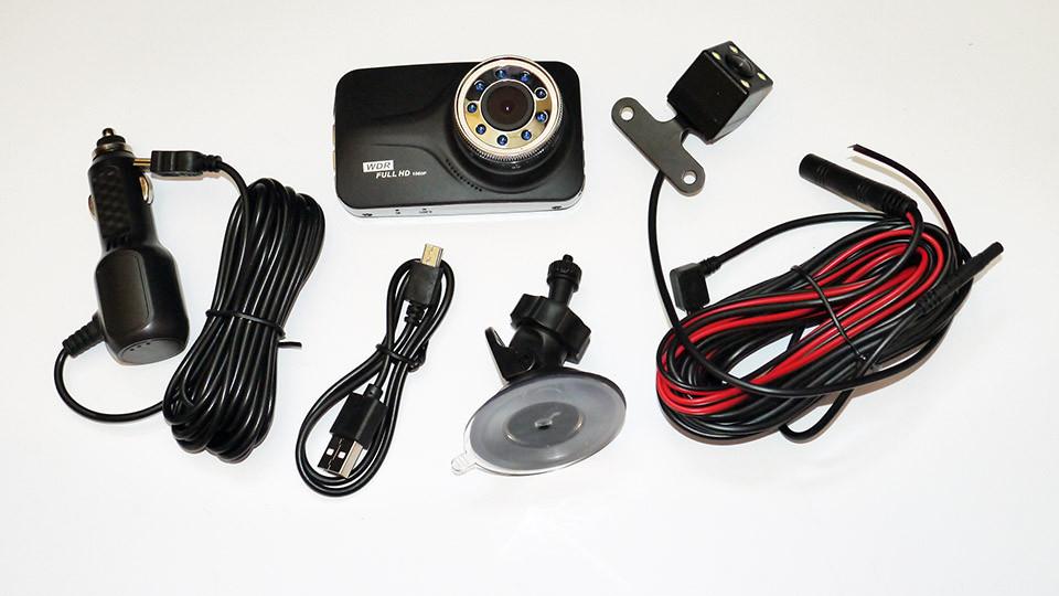 DVR T639 Full HD с выносной камерой заднего вида